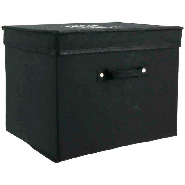 Boite De Rangement Pliable.Boite De Rangement Pliable En Tissu 30l Famille Noir