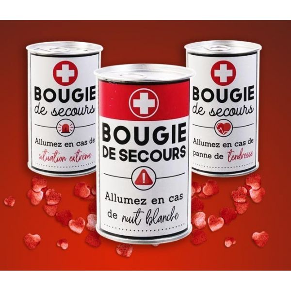 Bougie de secours en métal Fleur de coton (Lot de 3) - THE CANDLE FACTORY
