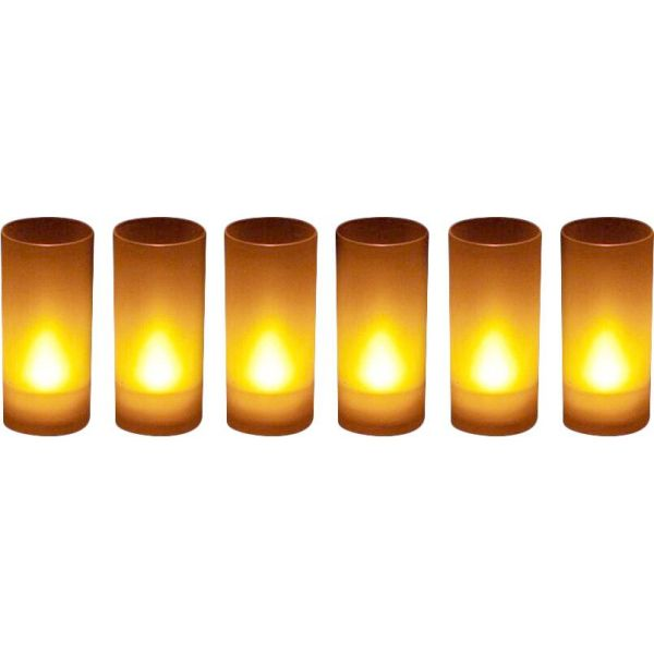 Bougies LED souffle (Lot de 6)