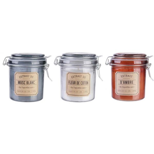 Bougies parfumées By L'apothicaire (Lot de 3)