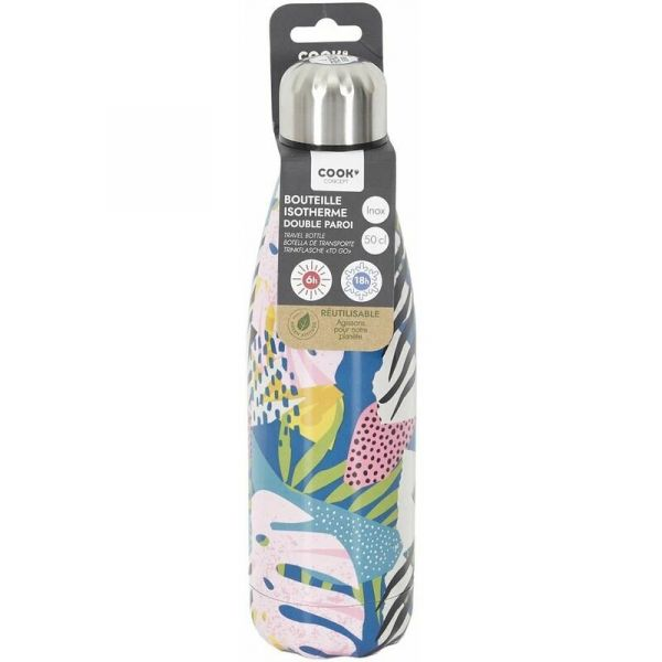 Bouteille de transport en inox Flower 50CL - 8,90