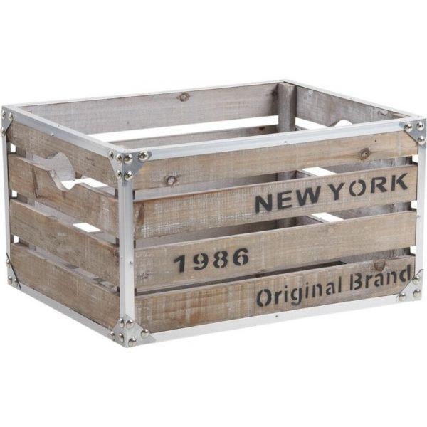 Royaume-Uni disponibilité 1169e b0893 Caisse en bois et métal style industriel New-York