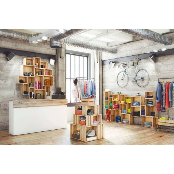Caisse en pin massif modulable Home box - 26,90