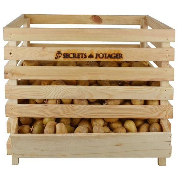 Caisse à pommes de terre en bois