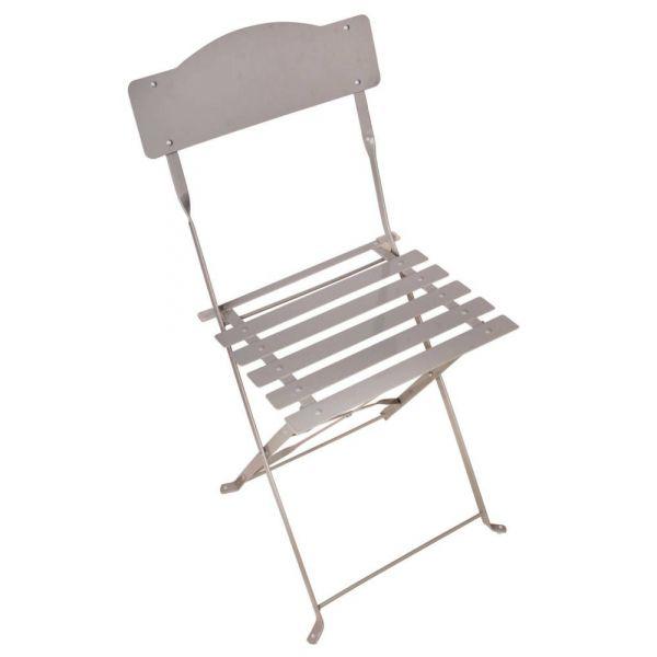chaise bistrot pliante gris. Black Bedroom Furniture Sets. Home Design Ideas