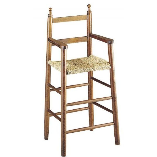 chaise haute pour enfant en h tre marron. Black Bedroom Furniture Sets. Home Design Ideas