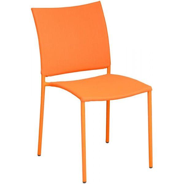 chaise de jardin design bonbon lot de 6 orange. Black Bedroom Furniture Sets. Home Design Ideas