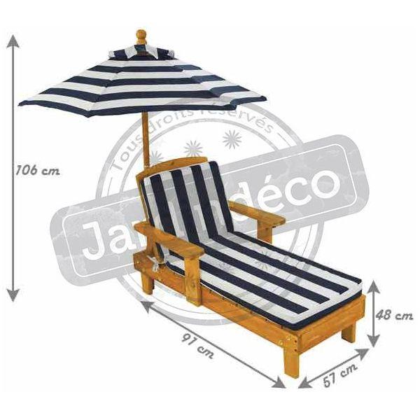 Chaise Longue D Exterieur Avec Parasol