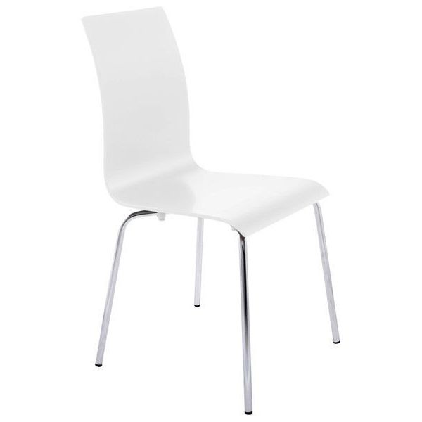 chaise repas design classic blanc. Black Bedroom Furniture Sets. Home Design Ideas