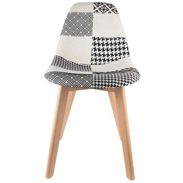 Chaise scandinave Patchwork - THE HOME DECO FACTORY