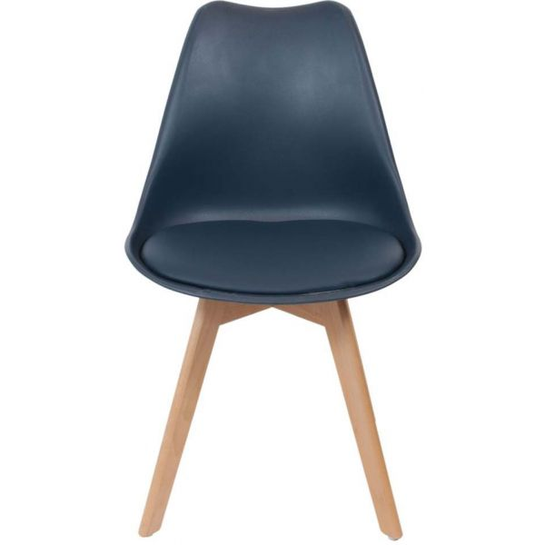 Chaise scandinave avec assise rembourrée - THE HOME DECO FACTORY