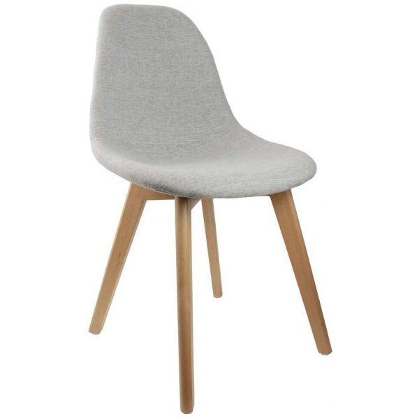 chaise scandinave en tissu et pieds en bois gris. Black Bedroom Furniture Sets. Home Design Ideas