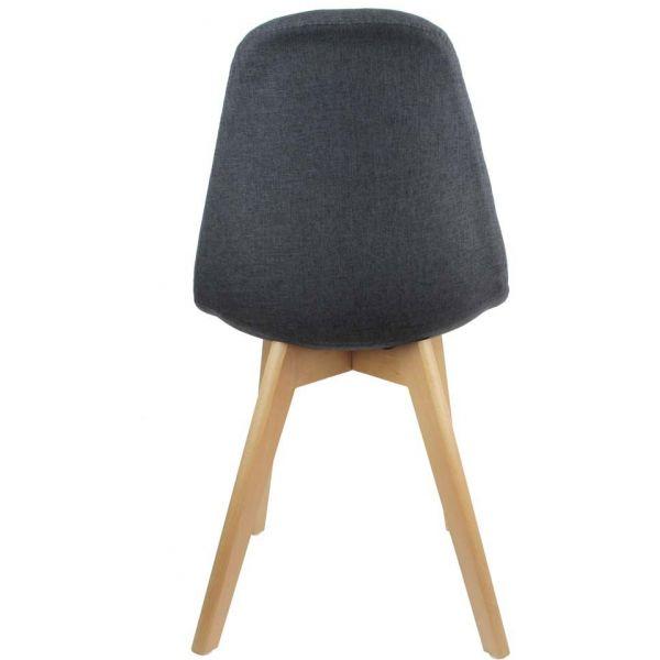 chaise scandinave en tissu et pieds en bois noire jardindeco. Black Bedroom Furniture Sets. Home Design Ideas