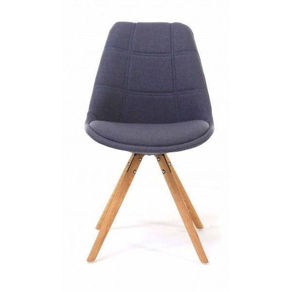 chaise tissu et bois sweet lot de 2 gris. Black Bedroom Furniture Sets. Home Design Ideas
