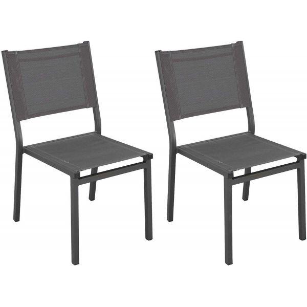 Chaises de jardin en aluminium sinawa lot de 2 - Chaise de jardin aluminium ...