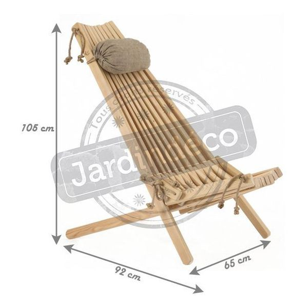 Chilienne bois EcoChair (coussin offert) - ECO-0102