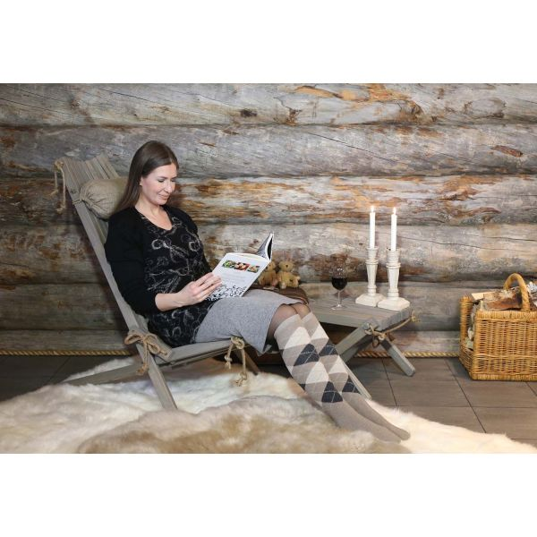 Chilienne scandinave avec repose-pieds - 7