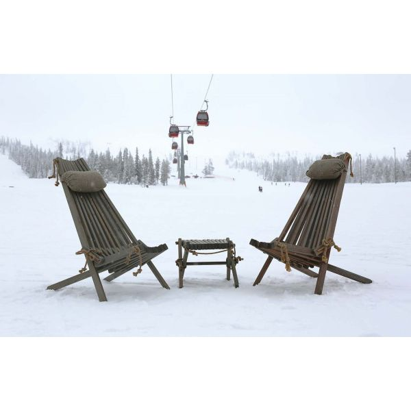 Chilienne scandinave avec repose-pieds - 5