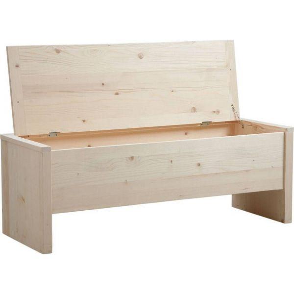 Coffre de rangement en bois brut - Coffre a jouets en bois brut a peindre ...