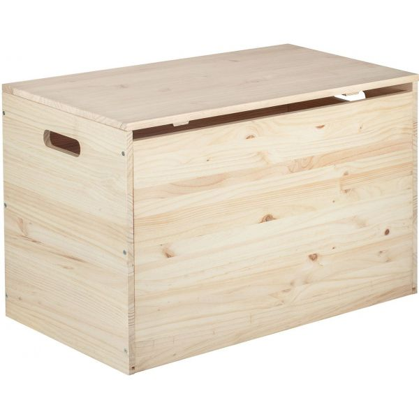 Coffre de rangement en pin brut 135 litres