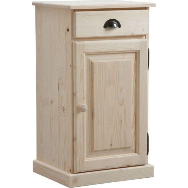 confiturier en bois brut 1 tiroir 1 porte. Black Bedroom Furniture Sets. Home Design Ideas