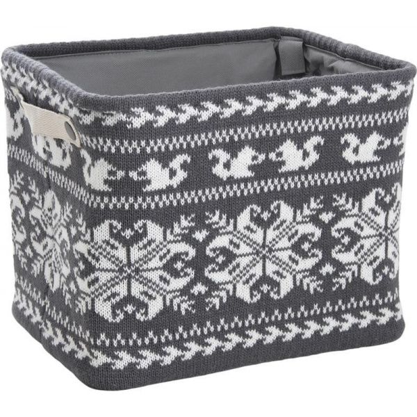 corbeille de rangement en laine chalet. Black Bedroom Furniture Sets. Home Design Ideas