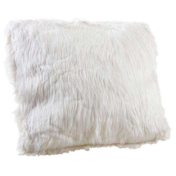 coussin blanc imitation fourrure blanc. Black Bedroom Furniture Sets. Home Design Ideas