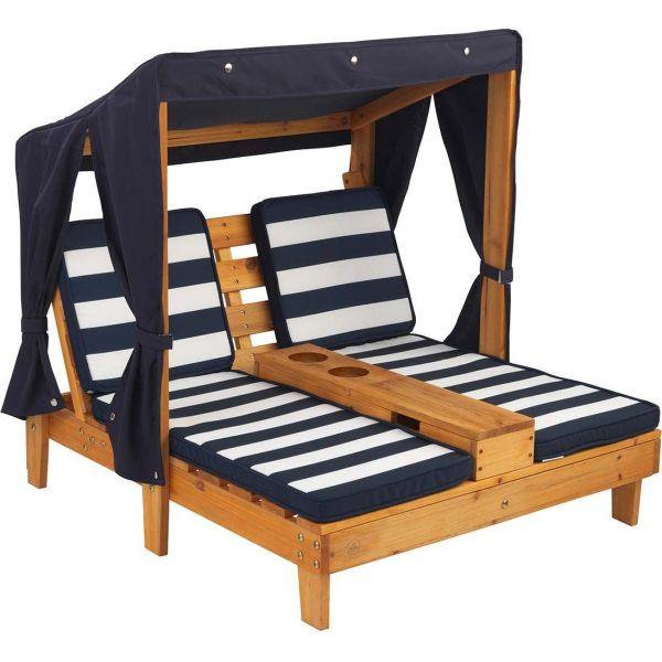 chaise longue enfant double