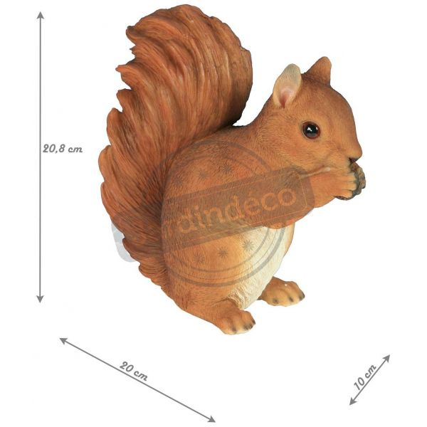 Ecureuil assis en résine 21 cm