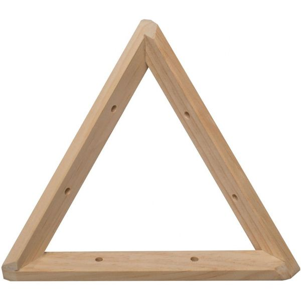 Equerre triangle en pin brut