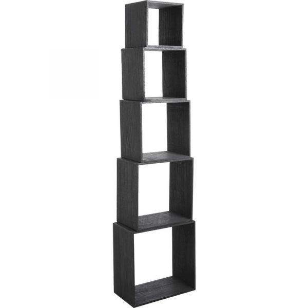 etagere cube bois noir. Black Bedroom Furniture Sets. Home Design Ideas