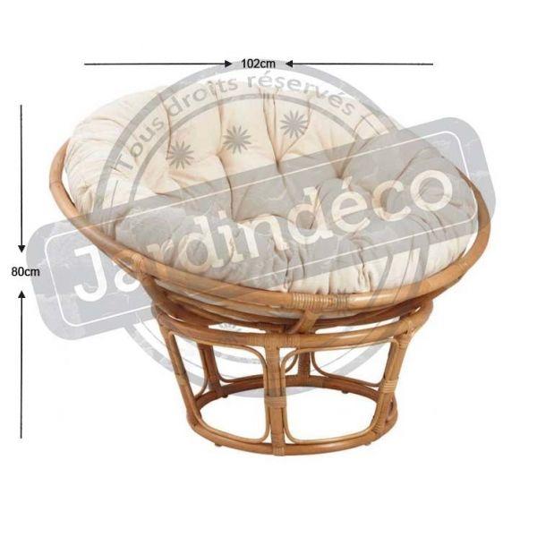 fauteuil papasan en rotin aubry gaspard jardindeco