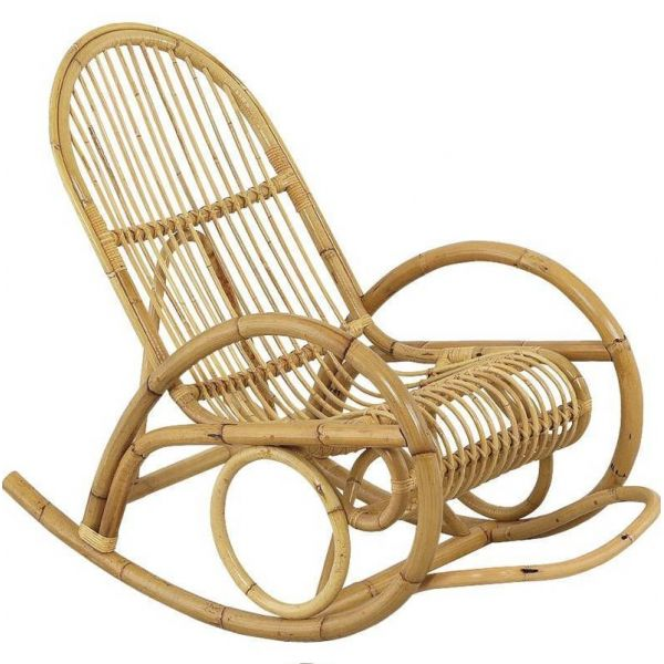 Fauteuil Rocking-chair en manau