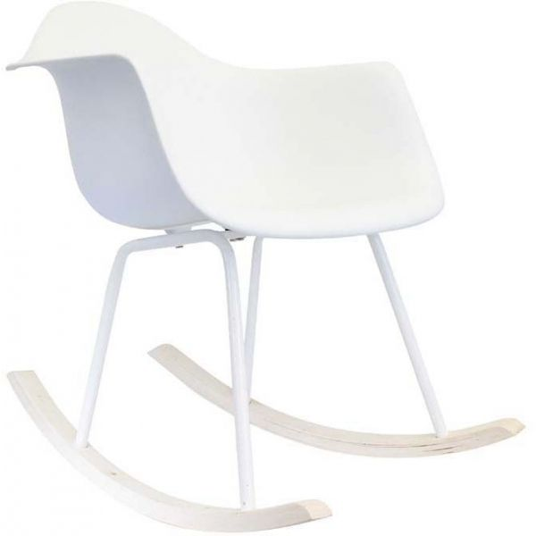 fauteuil scandinave bascule blanc. Black Bedroom Furniture Sets. Home Design Ideas