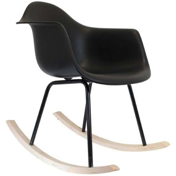 fauteuil scandinave bascule noir. Black Bedroom Furniture Sets. Home Design Ideas