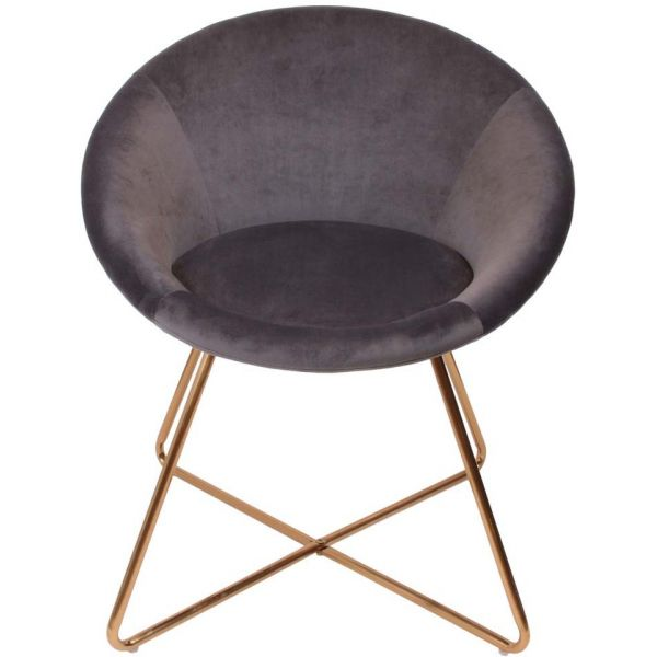 Fauteuil en velours Karl - THE HOME DECO FACTORY