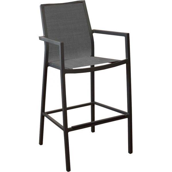 fauteuils de bar en aluminium ida lot de 4 gris. Black Bedroom Furniture Sets. Home Design Ideas