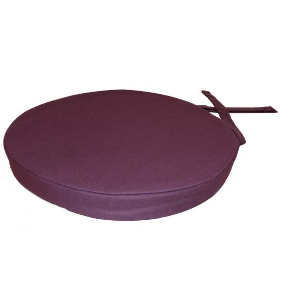 Galette de chaise ronde en coton 40 cm - COTTON WOOD