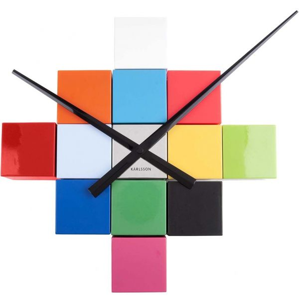 Horloge cubique DIY multicolore - KARLSSON
