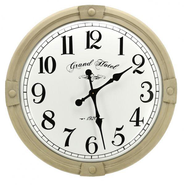 Horloge En Metal Grand Hotel Aubry Gaspard Jardindeco