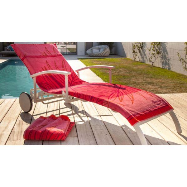 housse universelle bain de soleil en coton madrague corail. Black Bedroom Furniture Sets. Home Design Ideas
