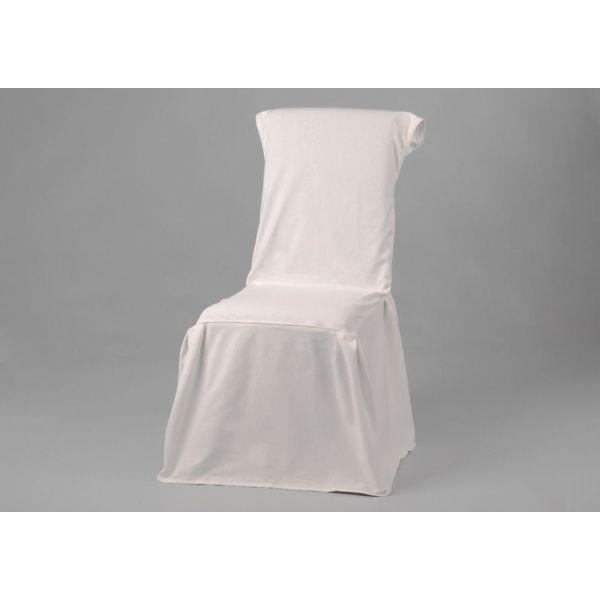 Housse De Chaise Coloris Blanc