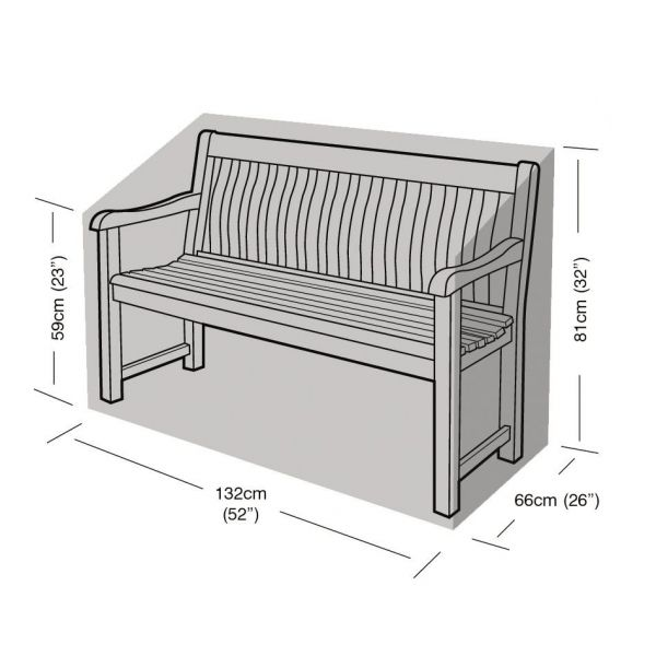 Housse de protection banc de jardin 2 places - GARLAND
