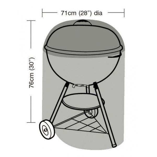 Housse de protection barbecue rond 71 cm - GARLAND