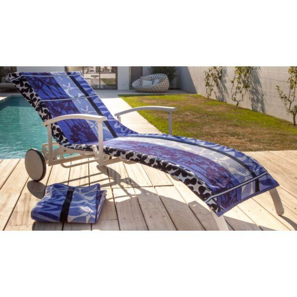 housse universelle bain de soleil en coton belharra indigo. Black Bedroom Furniture Sets. Home Design Ideas