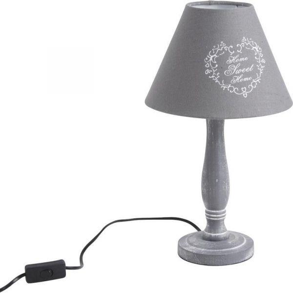 lampe home sweet home grise. Black Bedroom Furniture Sets. Home Design Ideas