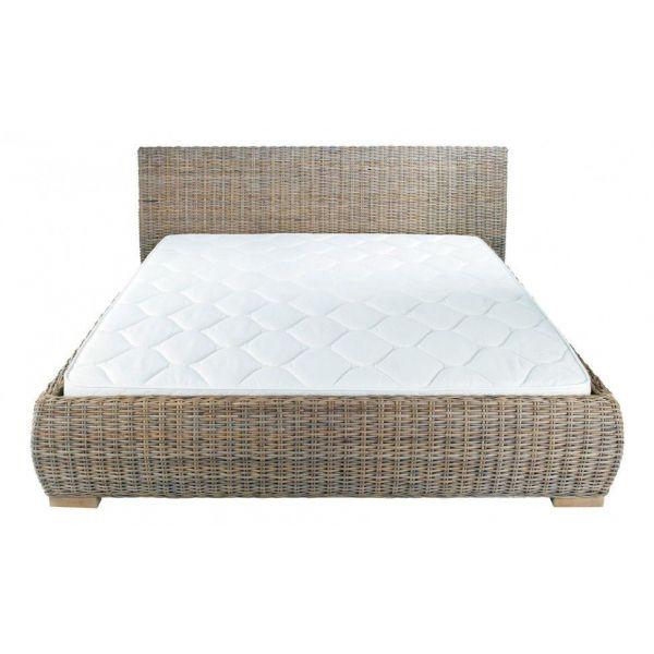 lit en rotin kubu 140x190 cm. Black Bedroom Furniture Sets. Home Design Ideas