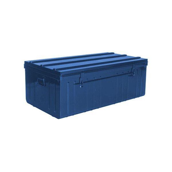 Malle De Rangement En Metal Bleu 175 Litres