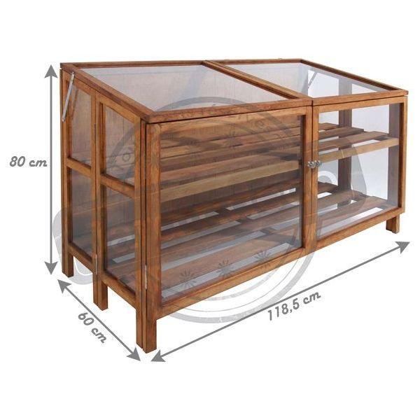 Mini serre de jardin en bois dur 118 5 cm Serre de jardin bois