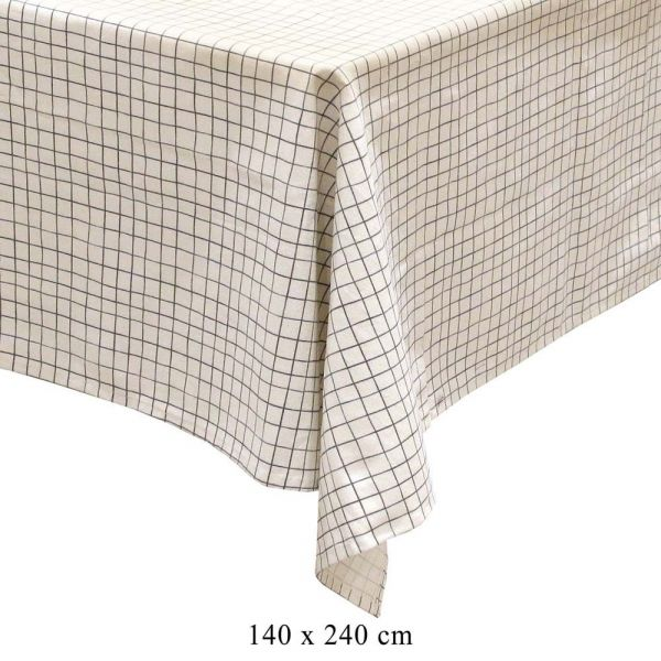 Nappe à motifs pour table rectangulaire 140x240 cm - THE HOME DECO FACTORY